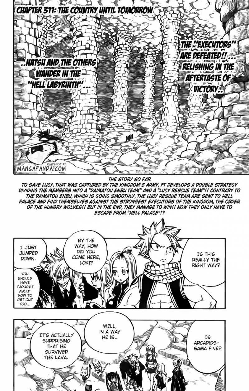 Fairy Tail 311: The Country Until Tomorrow